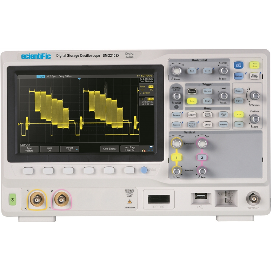 Oscilloscope Pulse Measurement : Mhz channel digital storage oscilloscope with