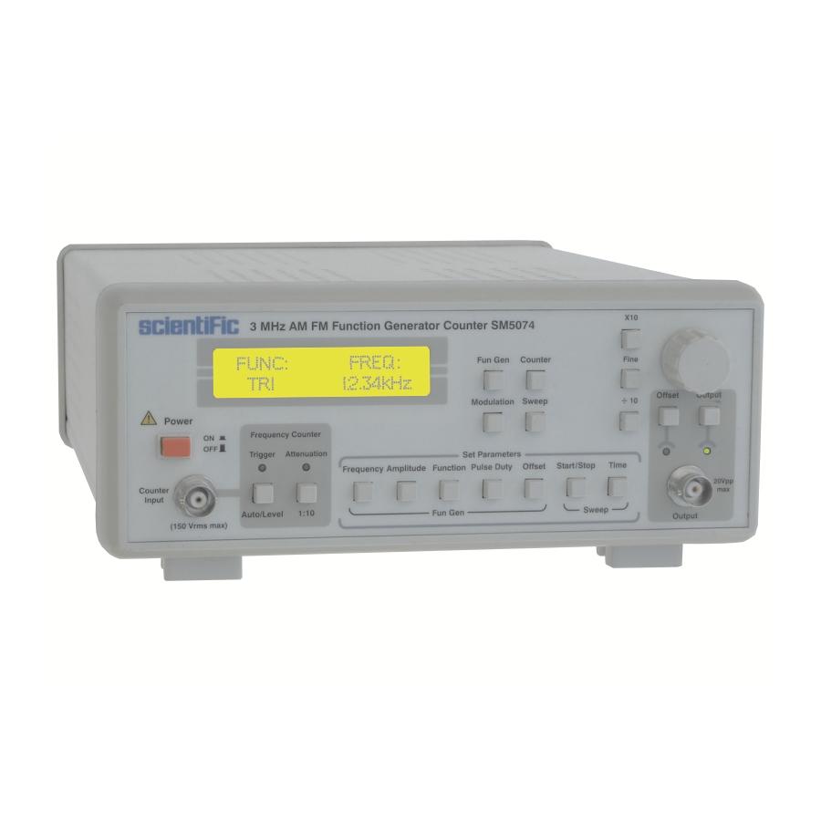 Sm5074 3 Mhz Am Fm Function Pulse Generator Counter Kit Digital Display Frequensi Untuk Tuner