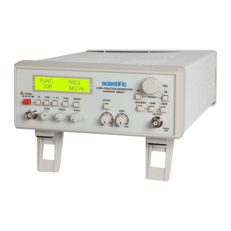 Sm5071 3 Mhz Function Generator Counter Generators Audio
