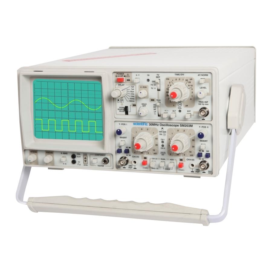 Digital Analog Oscilloscopes : Sm m mhz multifunction oscilloscope analog